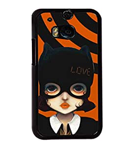 printtech Cute Girl Love Mask Back Case Cover for Huawei Honor 7 Enhanced Edition; Huawei Honor 7 Dual SIM with dual-SIM card slots