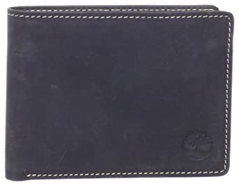 (史低)天木兰真皮钱包Timberland Men's Mt. Washington Passcase Wallet 黑色 $33.69