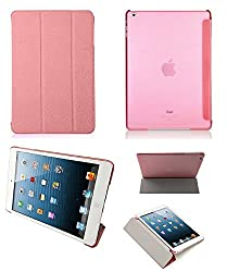Bear Motion (TM) Premium Folio Case with Stand for Apple iPad Mini / iPad mini 2 (Support Smart Cover Function) (iPad Mini / iPad Mini 2 Pink)