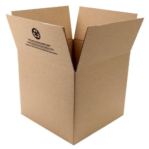 """Corrugate Shipping Boxes, 12"""" x 12"""" x 10.5"""", Brown, 6-Pack (281503"""