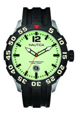 Nautica Men's BFD 100 Watch -A21514G With Black Resin Strap