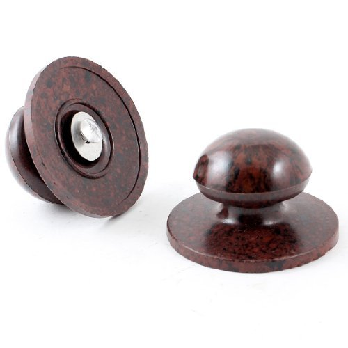 Water & Wood Home Kitchen Burgundy Cover Wooden Cookware Pot Lid Knob Grip 2pcs