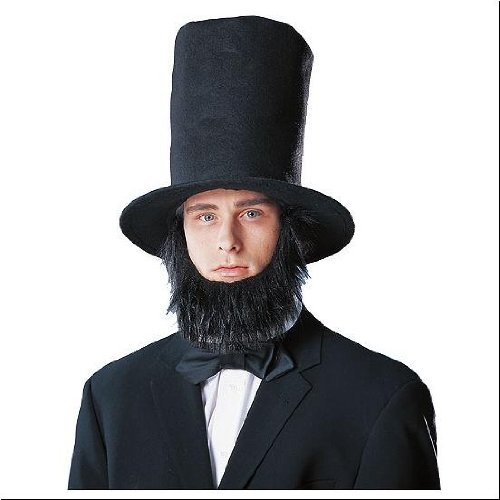 Lincoln Stove Top Hat with Beard