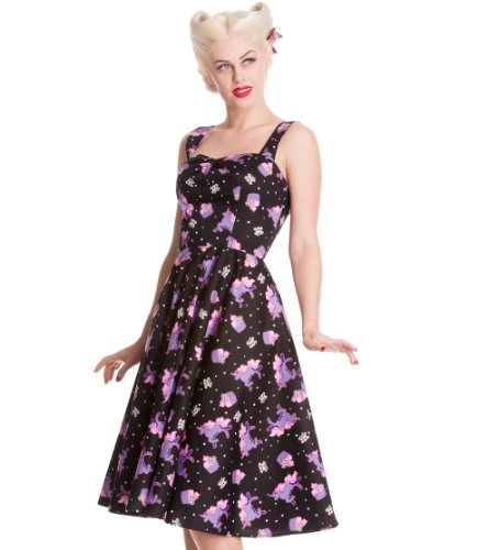 Hell Bunny Mystical 50's Dress L - Size 12 / EU 40