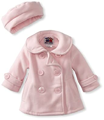 Good Lad Baby-Girls Infant Peacoat Jacket, Pink, 12