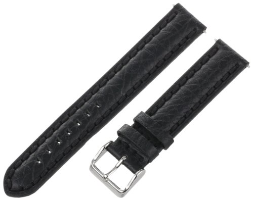 Voguestrap TX48320BK Allstrap 20mm Black Regular-Length Padded Genuine Calf Watchband