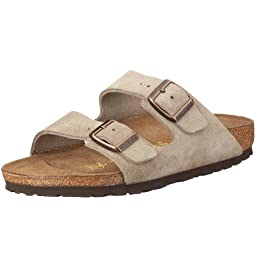 Birkenstock womens Arizona in Taupe from Leather Sandals 42.0 EU W
