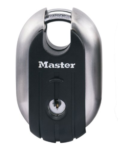 189eurd 49mm Titanium Shrouded Shackle Padlock By Master Lock