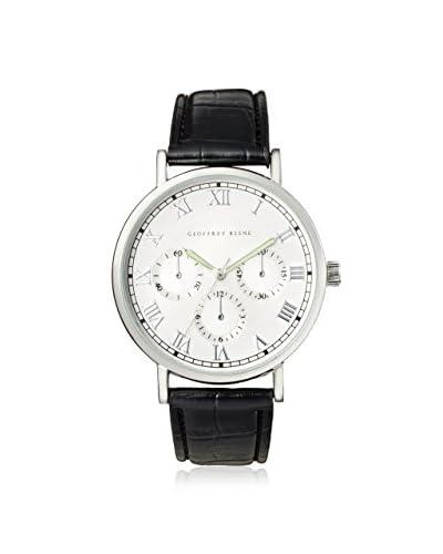 Geoffrey Beene Men's GB8023SLBK Black/Silver Stainless Steel Watch