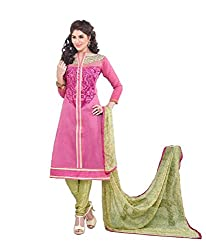 Kush Collection Women's Chanderi Straight Unstitched Dress Material