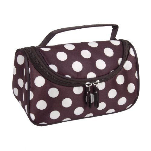 Doppia Cerniera Borsa Da Toilette Borsa Trousse Hand Bag Make-up Caso