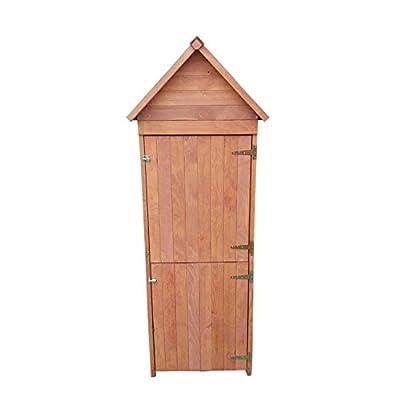 Gerätehaus aus Holz: Gartenschrank 192 x 66 x 47 cm (HxBxT) mit Spitzdach witterungsbeständig von Moorland auf Gartenmöbel von Du und Dein Garten