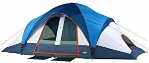 Mountain Trails Grand Pass 18- by 10-Foot, 2-Room 9 to 10-Person Family Dome Tent from Wenzel