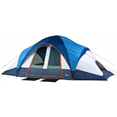 Mountain Trails Grand Pass 18- by 10-Foot, 2-Room 9 to 10-Person Family Dome Tent by Mountain Trails