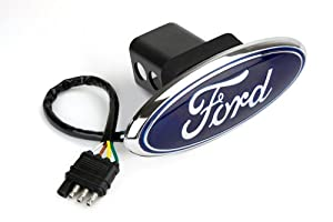Reese Towpower 86065 Licensed LED Hitch Light Cover with Ford Logo