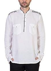 Desam Men's Linen Kurta White 39