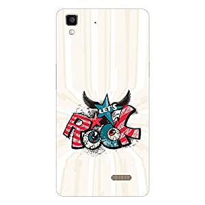 Garmor Designer Silicon Back Cover For Reliance Lyf Wind 7