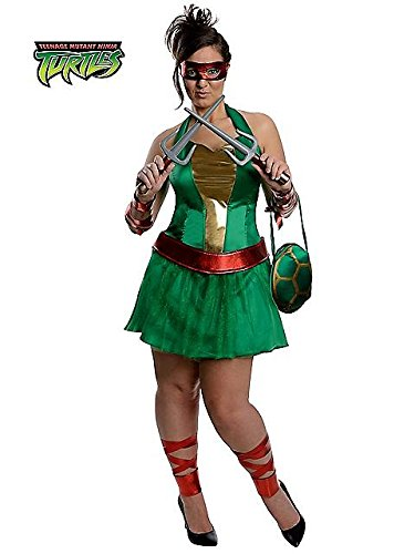 Ladies Plus Size Teenage Mutant Ninja Turtles Raphael Costume PLUS