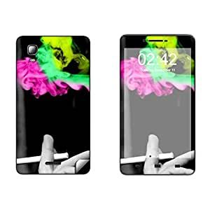 Skintice Designer Mobile Skin Sticker for Micromax Doodle 3 A102, Design - Smoke Abstract