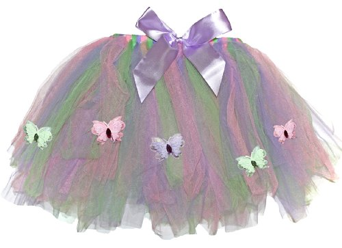 Butterfly Tutu Skirt Pink Purple Green Toddler Girls Birthday Party Costume