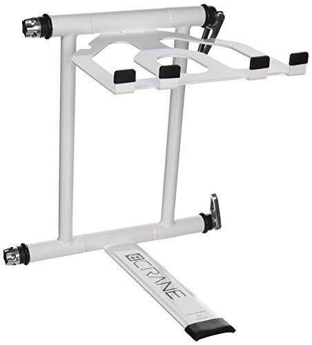 CRANE Stand Plus Universal DJ Stand for Laptops, Tablets and Controllers with Nylon Carry Bag, White (Dj Laptop Stand White compare prices)