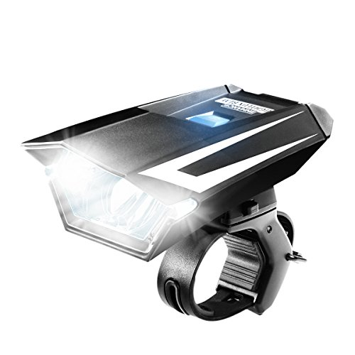 ENHANCE NIGHTLUX BLM Headlight Bike Mount with Weather Proof Exterior and Multiple Light Settings - Works with Diamondback , Critical Cycles , Schwinn , Northwoods , Giordano and More Bicycles