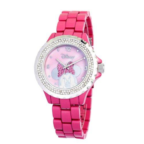 Ewatchfactory Women's 56270-1C Disney Minnie Mouse Pink Enamel Sparkle Watch