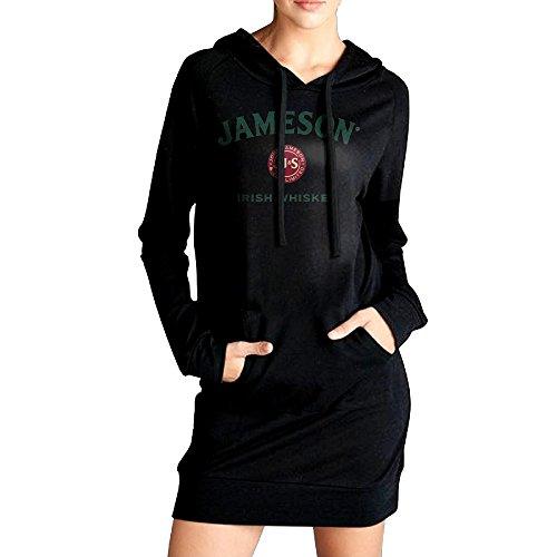 womens-jameson-whiskey-logo-sweatshirt-dress-hoodie