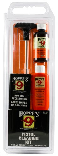 Hoppe's Cleaning Kit for .22 Caliber Pistol, with Aluminum Rod, Clam from Hoppe's