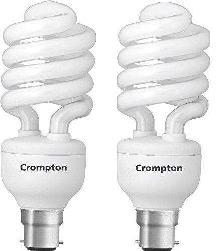 Crompton Greaves Spiral 25-Watt CFL Bulb (Cool Day Light,Pack of 2)