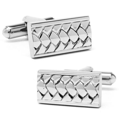 Stainless Steel Woven Cufflinks
