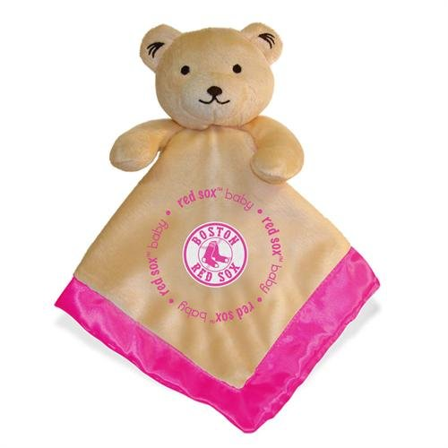 Mlb Boston Red Sox Baby Fanatic Snuggle Bear Blanket, Pink front-925678
