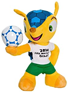 FIFA 697 Peluche Fuleco avec ballon Coupe du monde Football Brésil 2014 17 cm