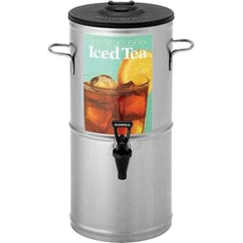 "Bloomfield 8799-3G Iced Tea Dispenser with Handles, 3-Gallon, Stainless Steel, 9"" Depth, 19 3/8"" Height"