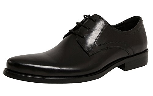 Serdaomani Men'S Fashion Soft Round Toe Oxford Formal Leather Shoes Black 39Eu
