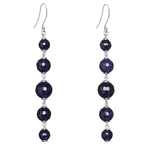 Lola Rose 'Paola' Blue Sandstone Earrings