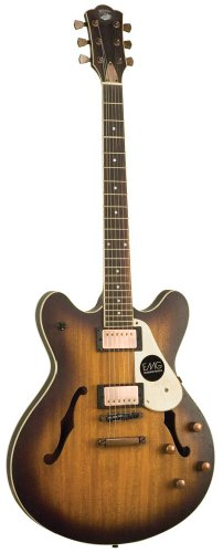 Axl Badwater Semi-Hollow Electric Guitar, Matte Sunburst