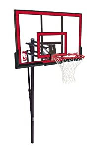 Buy Spalding 88354PR NBA 48 Polycarbonate Backboard In-Ground Basketball System by Spalding