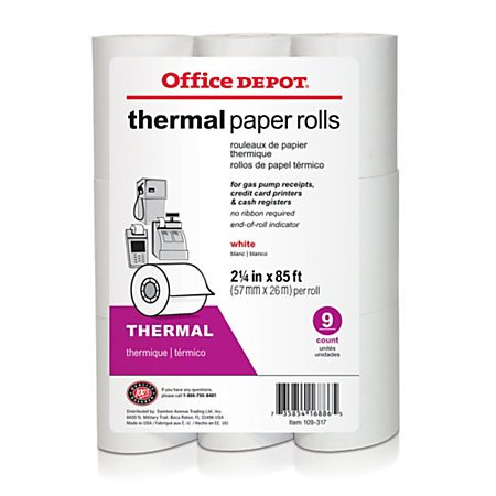 office-depot-thermal-paper-rolls-2-1-4in-x-85ft-white-pack-of-9-109317