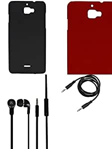 NIROSHA Cover Case Headphone for Micromax Canvas Nitro 2 - Combo