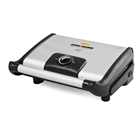 George Foreman GR0080S Stainless Steel 80 Square Inch Vari Temp Grill with Variable Temperature Control