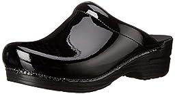 Dansko Women\'s Sonja Patent Leather Clog,Black,40 EU / 9.5-10 B(M) US