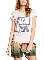 Maison Scotch Camiseta Manga Corta (Rosa)