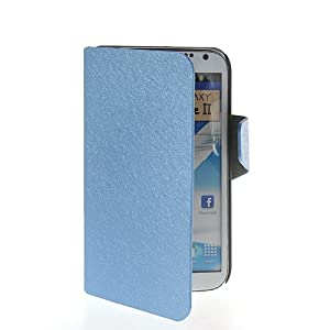 Stand Leather Shell Case Cover for Samsung Galaxy Note 2 ii N7100 Blue