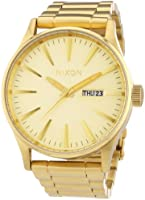 Nixon Men's Sentry Watch One Size Gold