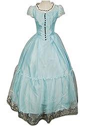 Vcos Tim Burton's Alice In Wonderland Alice Blue Dress Costume