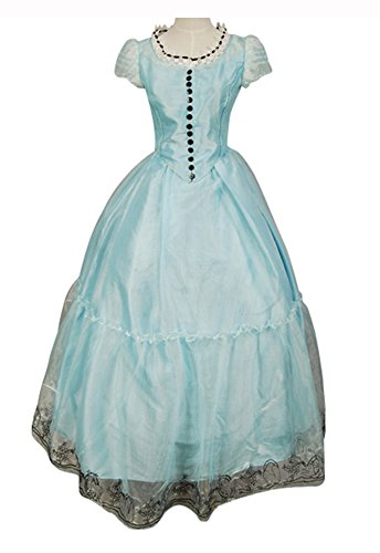Vcos Tim Burton's Alice In Wonderland Alice Blue Dress Costume