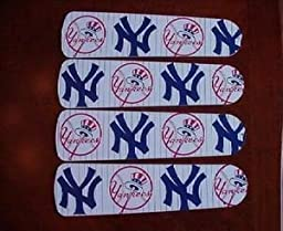 Ceiling Fan Designers 42SET-MLB-NYY MLB York Yankees Baseball 42 In. Ceiling Fan Blades Only