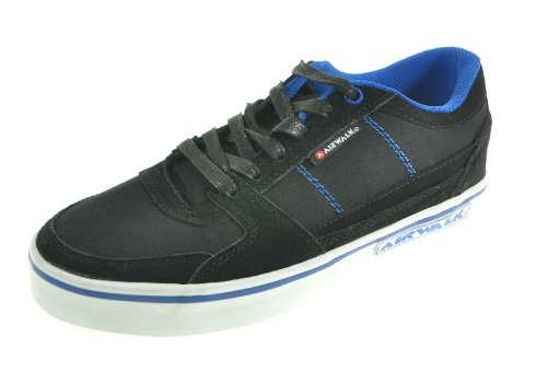 Airwalk TIME JR Trainers Boys Black Schwarz (Schwarz/Blau 82) Size: 3 (36 EU)