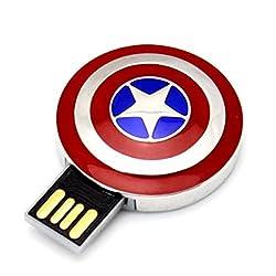 Portronics Metal Avengers shield USB (8 GB) POR 455